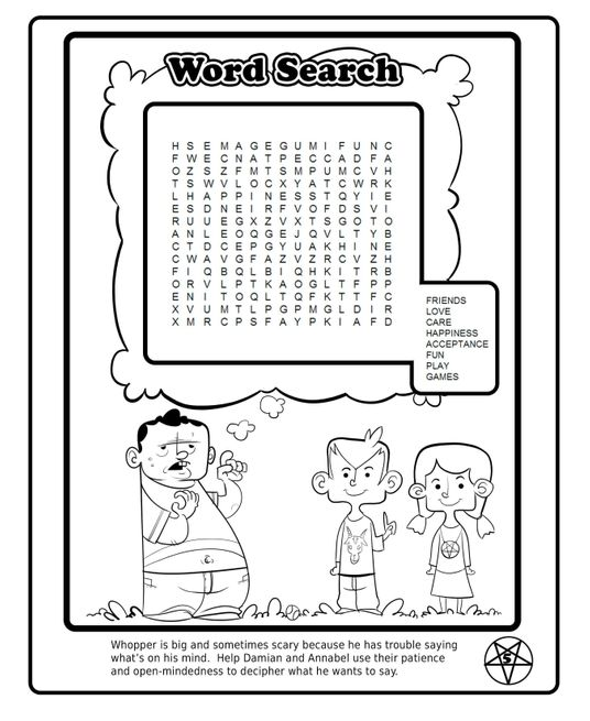 sources gawker orlando sentinel satanists release cute and cuddly coloring book - Satanic Coloring Book