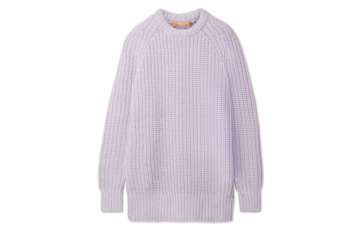 MICHAEL KORS COLLECTION Ribbed cashmere and linen-blend sweater