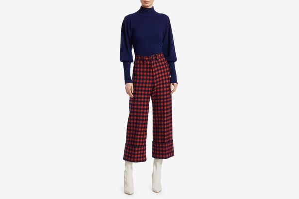 Sea Pop Plaid Cuff Trousers