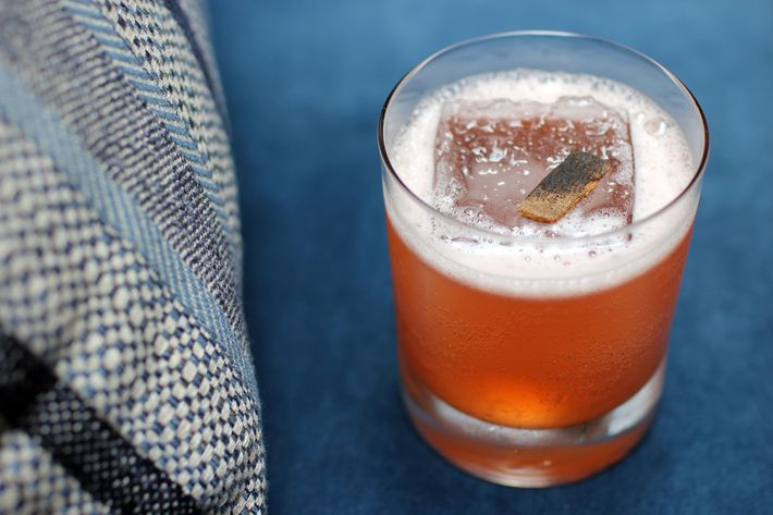 Seraphim: bourbon, vanilla bean, green chartreuse, smoked cinnamon.