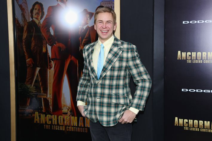 "NEW YORK, NPat Kiernan attends the ""Anchorman 2: The Legend Continues"" U.S. premiere at Beacon Theatre on December 15, 2013 in New York City.Y - DECEMBER 15:  Pat Kiernan attends the ""Anchorman 2: The Legend Continues"" U.S. premiere at Beacon Theatre on December 15, 2013 in New York City.  (Photo by Rob Kim/Getty Images)"