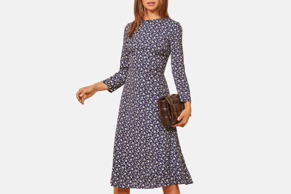 Reformation Moon Floral Long Sleeve Dress