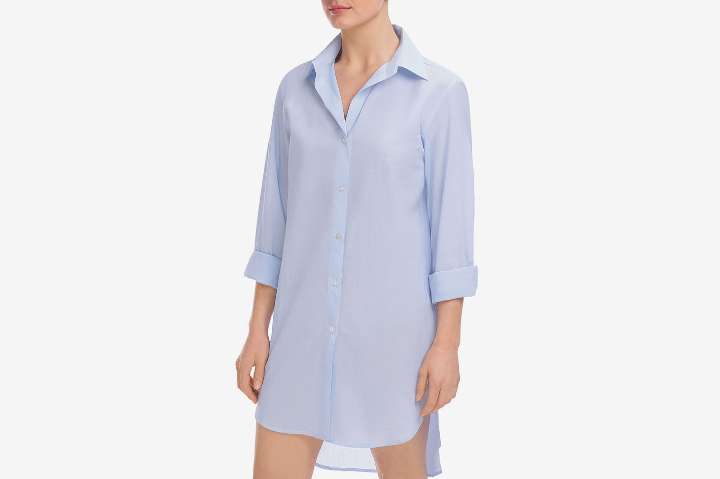 188ed3bd5 Commando Stripe Oversize Cotton Voile Sleep Shirt at Nordstrom