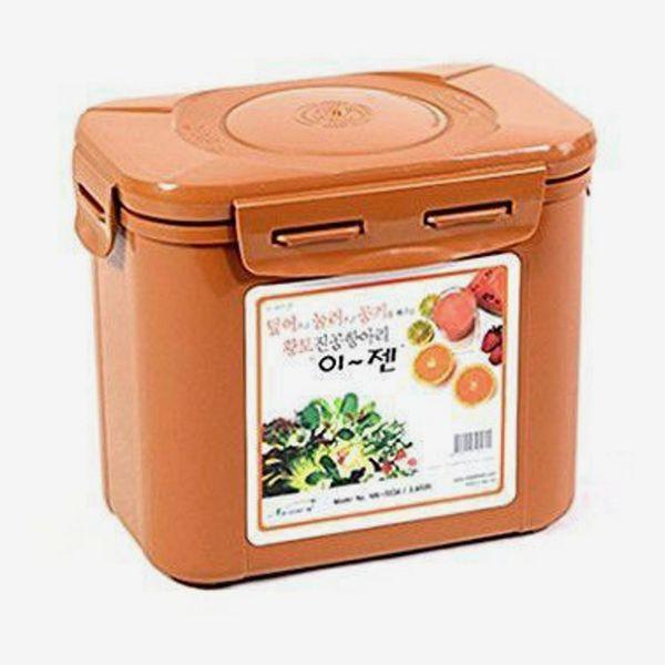 E-Jen Premium Kimchi, Sauerkraut Container Earthenware Brown 1.7L