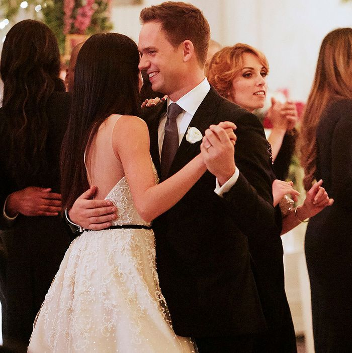 The First Pics From Meghan Markle's 'Suits' Wedding