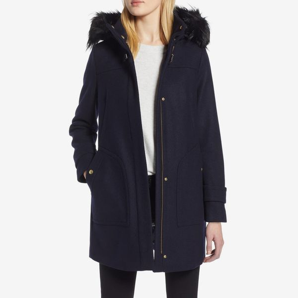 Cole Haan Faux Fur Trim 340 Winter Coat