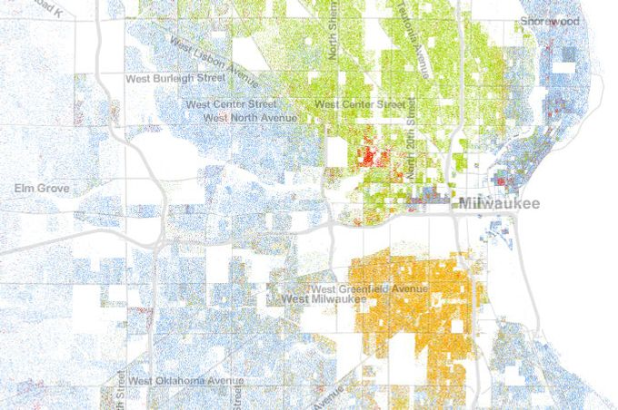 Milwaukee Shows What Segregation Does To American Cities - Segregated us map