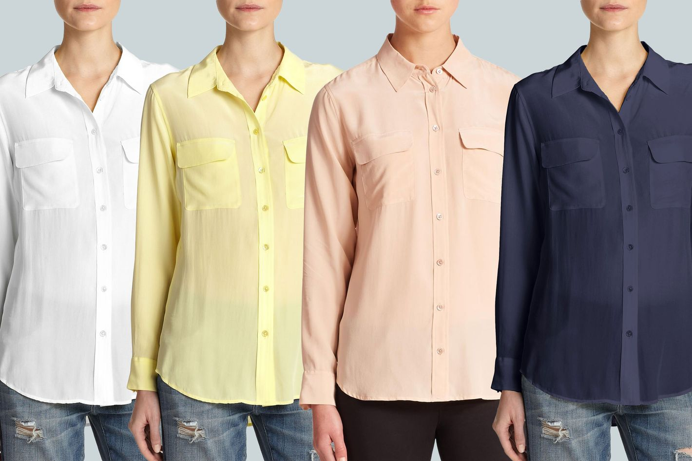 120bc7b54d438 I Own This Shirt in 4 Colors. By Jen Doll · Equipment Slim Signature Silk  Shirt