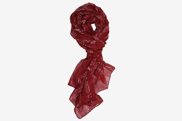 Sweet Symphony Allover Music Notes Scarf