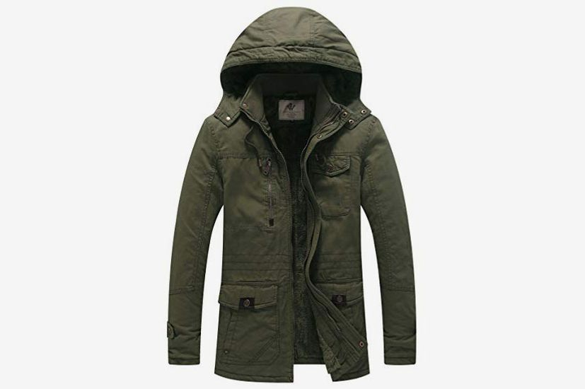 WenVen Men's Winter Cotton Parka