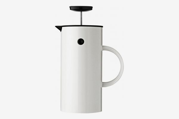 Stelton 8 Cup Press Coffee Maker, White