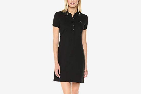 Lacoste Women's Stretch Cotton Short Sleeve Mini Piqué Polo Dress