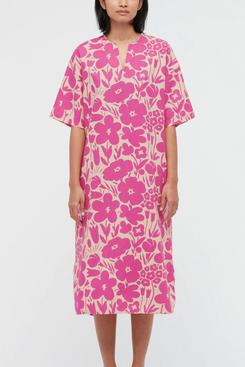 Uniqlo Women Linen Blend Short-Sleeve Dress (Marimekko)