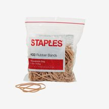 Staples Economy Rubber Bands #33, 205/Pack