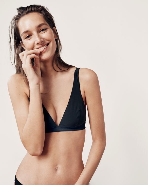 Plunge V-neck bralette in matte stretch