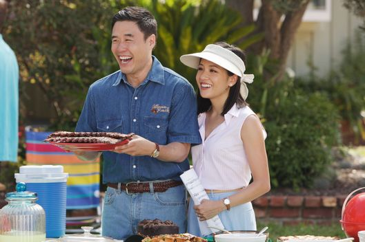 "FRESH OFF THE BOAT - ""The Shunning"" - When the cul-de-sac plans a block party to celebrate NASCAR, Louis urges the family to use the event to make new friends (and promote Cattleman's Ranch Steakhouse). But Jessica has problems fitting in, especially after she befriends a beautiful trophy wife the roller blade moms don't like. Meanwhile, Eddie schemes to win the respect of the neighborhood kids, in the time-period premiere of ABC's new comedy series ""Fresh Off the Boat,"" TUESDAY, FEBRUARY 10 (8:00-8:30 p.m., ET) on the ABC Television Network. (ABC/Nicole Wilder)RANDALL PARK, CONSTANCE WU"