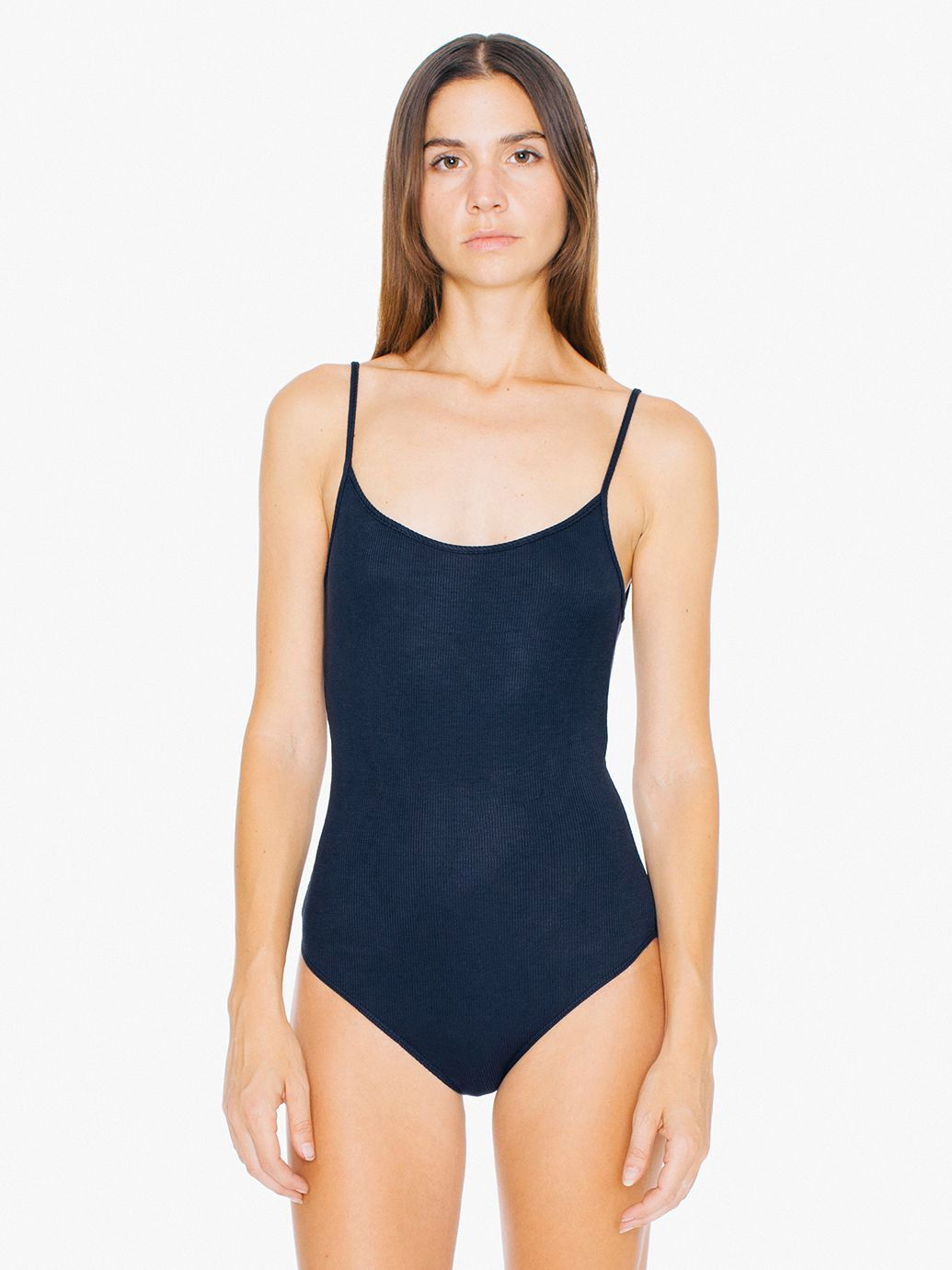 American Apparel 2x2 Rib U Back Bodysuit