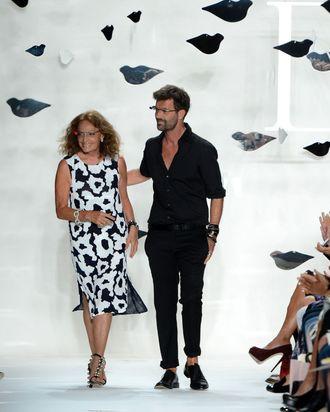 Diane Von Furstenberg and Yvan Mispelaere.