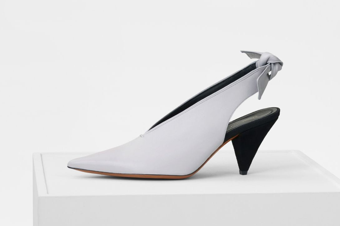 Céline Soft V-Neck Slingback Pump