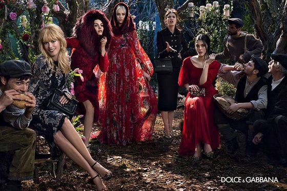<b>Models:</b> Claudia Schiffer, Bianca Balti, Vittoria Ceretti, Kate Bogucharskaia, Nastya Sten, and Eva Berzina <b>Photographer: </b>Domenico Dolce
