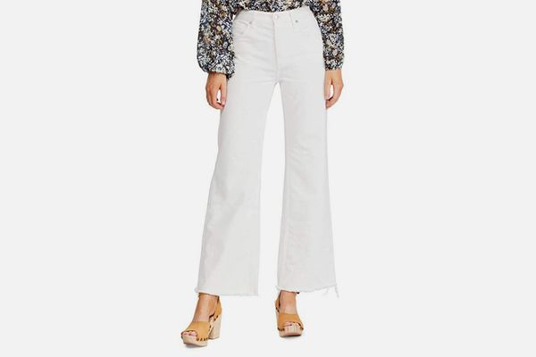 Free People Women's High Rise Straight Flare Jeans
