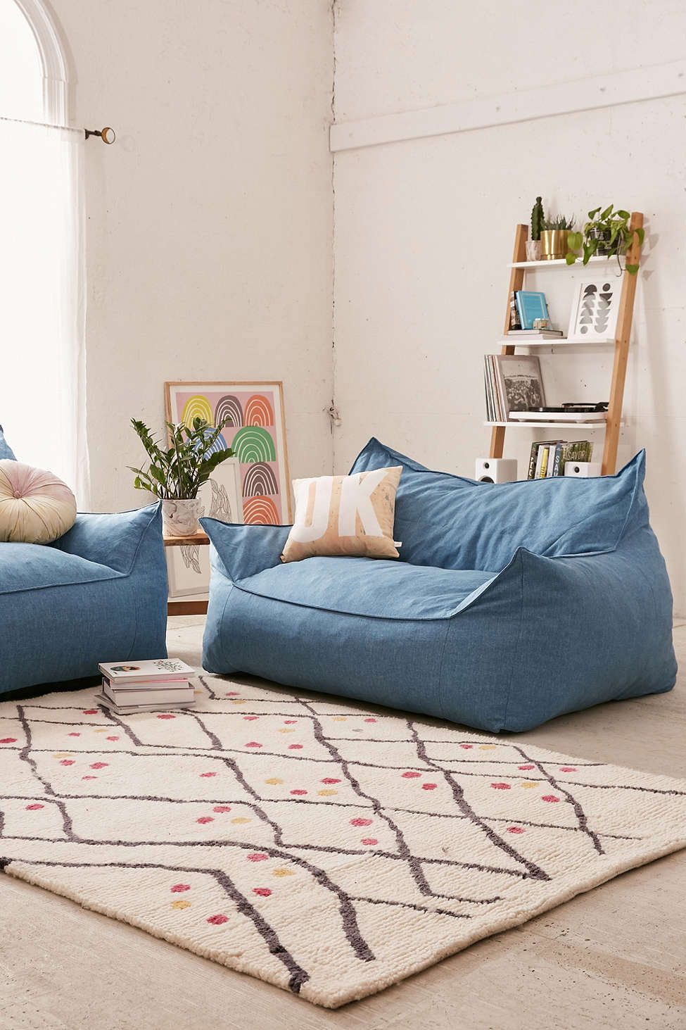 I Like This Love Seat Because Itu0027s Basically A Grown Up Bean Bag Chair, And  Itu0027s Been Reinterpreted In A Classic Blue Denim Fabric. Itu0027s As Comfortable  As ...