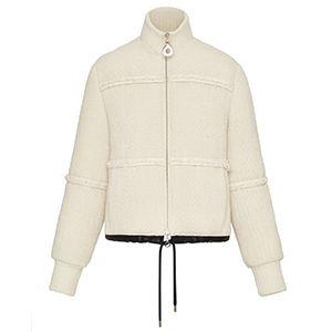 Textured Twill Puffer Jacket