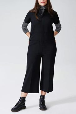 Universal Standard Kate Stretch Cotton Twill Jumpsuit