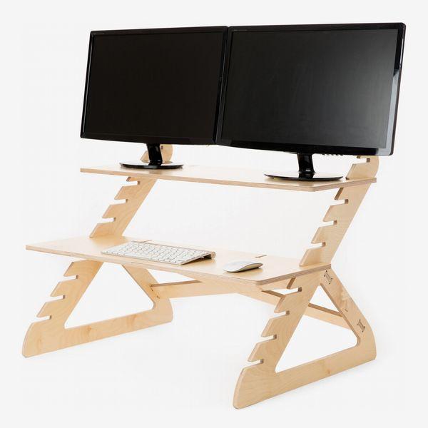 Readydesk Two-Shelf Adjustable Desk Stand