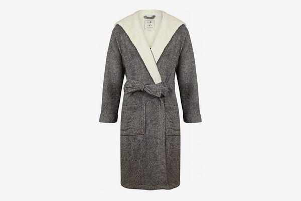 John Christian Men's Hooded Fleece Robe