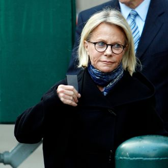 Ruth Madoff leaving the Metropolitan Correctional Center