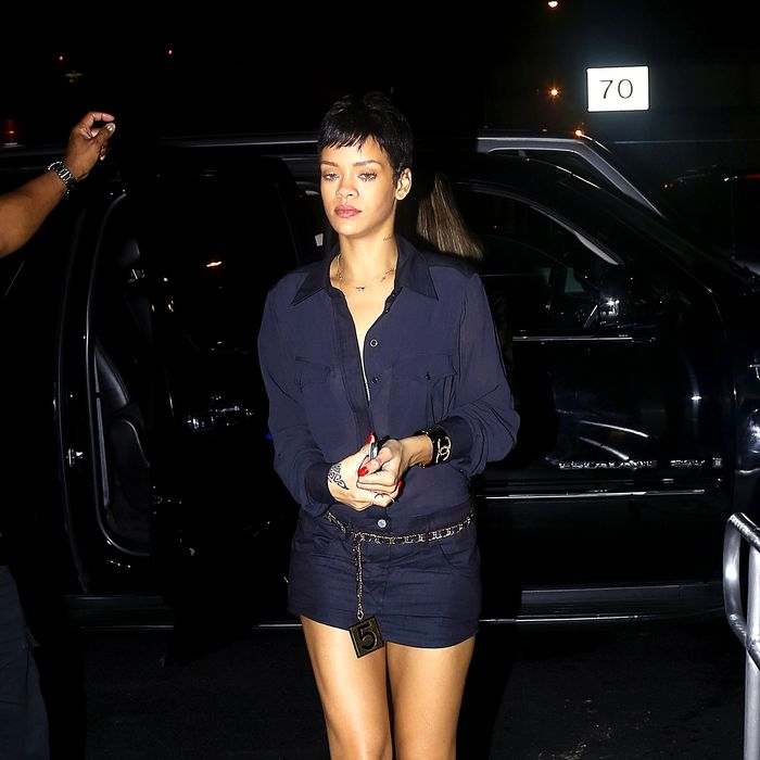 RiRi, on the town this week.