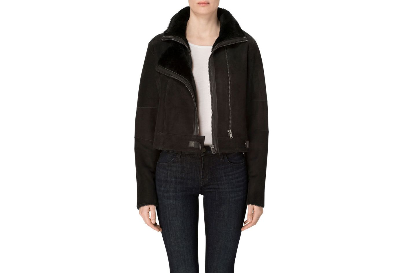 Camilla Shearling Jacket in Black