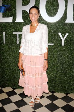 Margherita Missoni at the launch of her collaboration with Peroni.