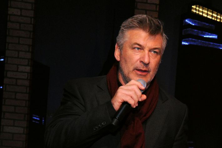 NEW YORK, NY - JANUARY 31: Actor/producer Alec Baldwin speaks at The 5th Annual Big Game Big Give Benefiting The Giving Back Fund, hosted by Alec Baldwin at Tribeca Rooftop on January 31, 2014 in New York City. (Photo by Ilya S. Savenok/Getty Images for The Giving Back Fund)