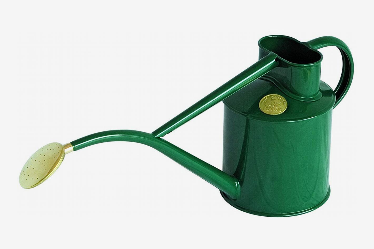 Haws Indoor Painted Metal Watering Can With Rose And Gift Box 2 Pint 1 Liter Green