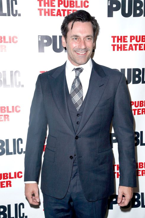 Jon Hamm==THE PUBLIC THEATER Opening Night Celebration of THE LIBRARY==The Public Theater, New York==April 15, 2014==?Patrick McMullan==Photo-JIMI CELESTE/patrickmcmullan.com==