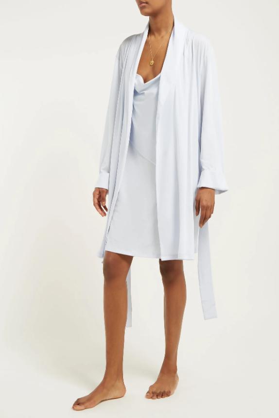 SKIN Kellyn pima cotton-jersey robe