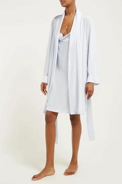 womens white skin pima cotton robe - strategist fashion summer sale