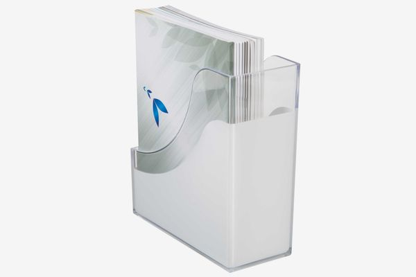 Desk Organizer Magazine Holder in White