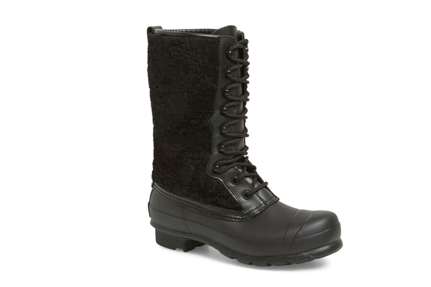 Hunter Genuine Shearling Waterproof Lace Up Boot