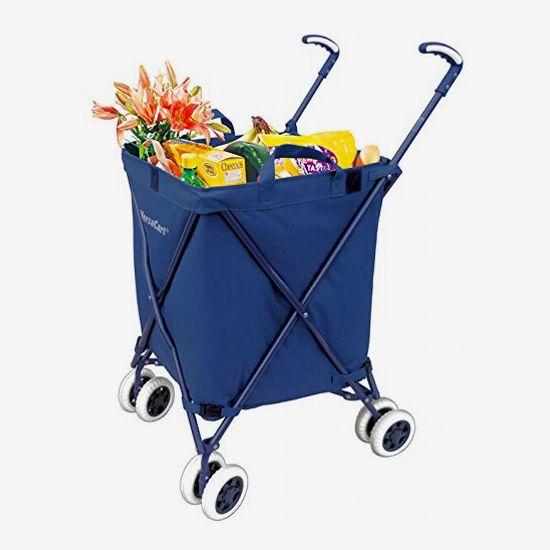 VersaCart Folding Utility Cart in Navy