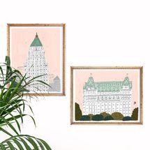 On Lane Avenue Set of New York City Art Prints