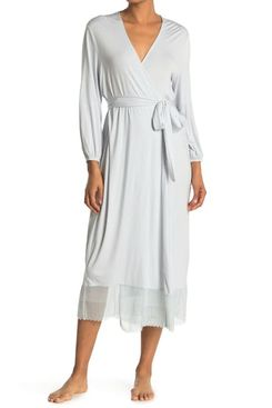 Eberjey Phoebe Luxe Lace Trim Robe