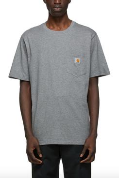 Carhartt Work In Progress Grey Pocket T-Shirt
