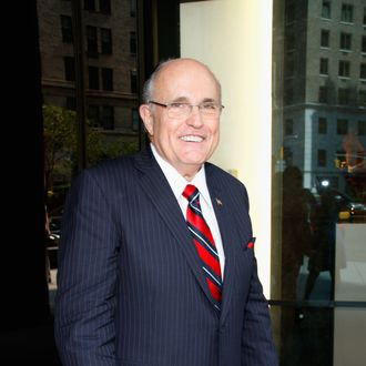 NEW YORK, NY - SEPTEMBER 11: Former NY mayor Rudy Giuliani attends the Annual Charity Day Hosted By Cantor Fitzgerald And BGC at the Cantor Fitzgerald Office on September 11, 2013 in New York, United States. (Photo by Janette Pellegrini/Getty Images for Cantor Fitzgerald)