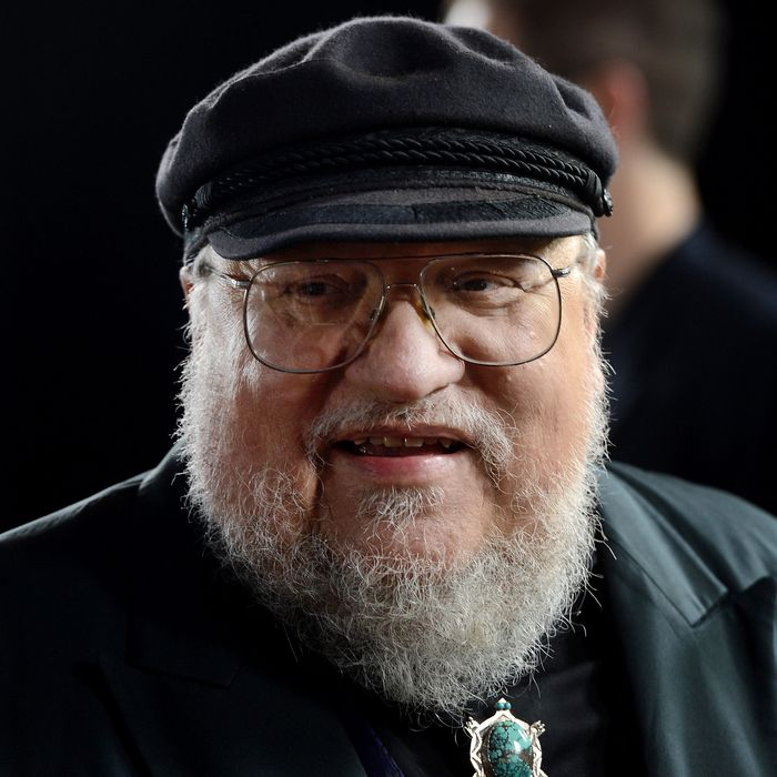 Co-Executive Producer George R.R. Martin arrives at the premiere of HBO's