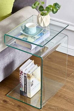 Fenghua Glass S-Shaped Nightstand