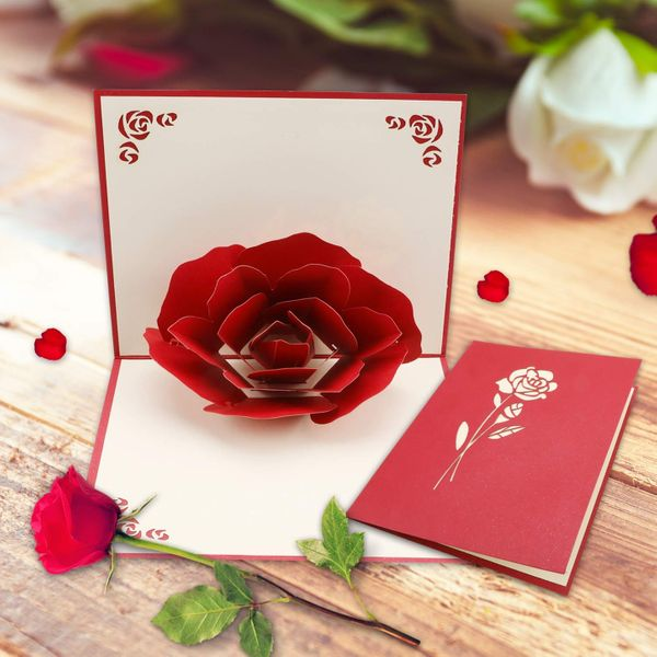 Howaf 2 Pack Valentine's Day Card Love Card