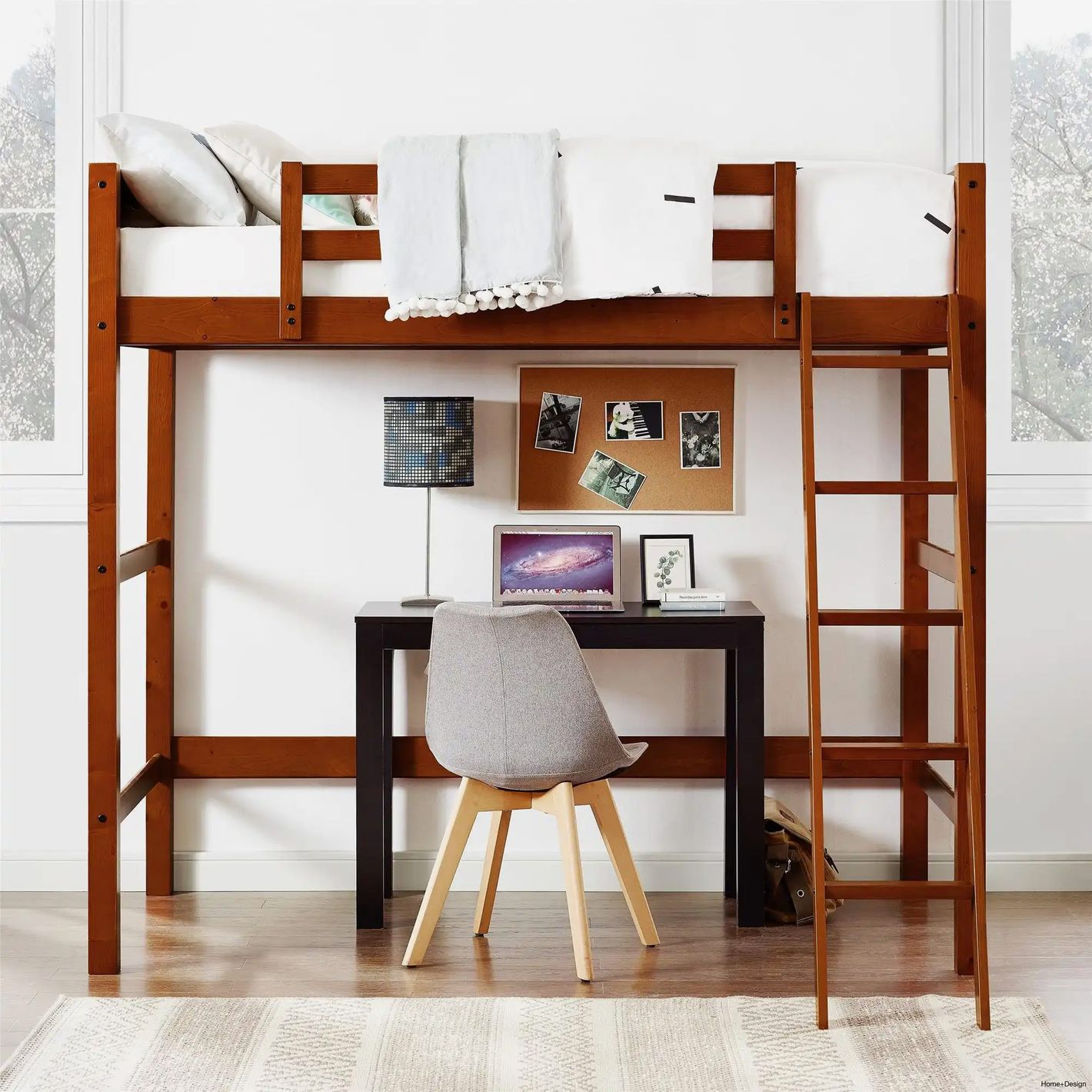 Superindoor Your Zone Collection Twin Wood Loft Bed
